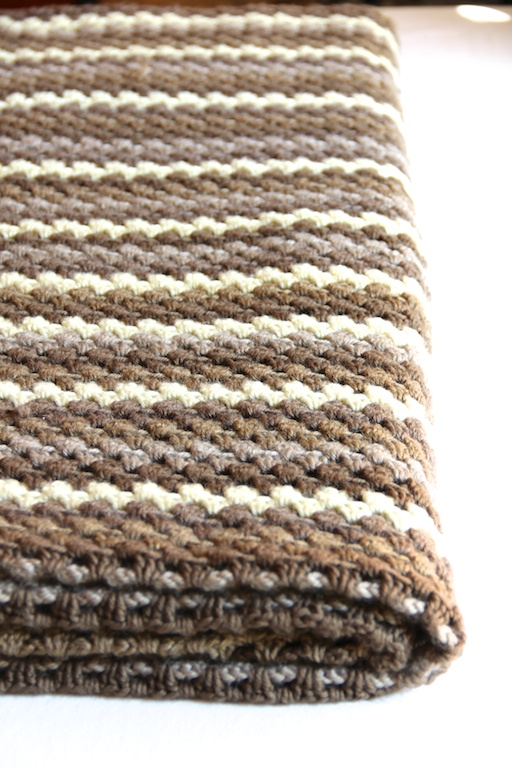 Striped Afghan Knitting Pattern : Granny Stripes Blanket Italian Dish Knits