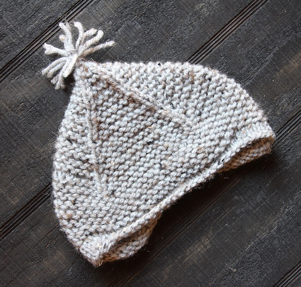 e7bde85bfff Shawl Baby Sweater and Garter Ear Flap Hat