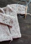 shawl-sweater-one-sleeve-on-needle