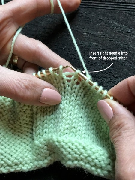 Dropped Knit Stitch 2