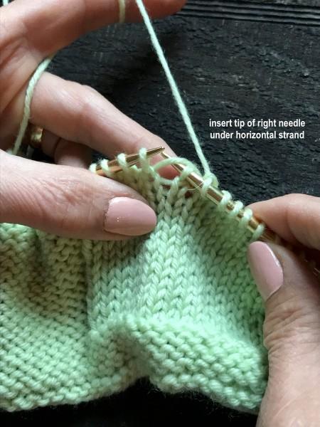 Dropped Knit Stitch 3