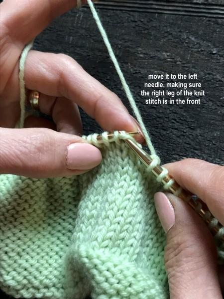 Dropped Knit Stitch 7