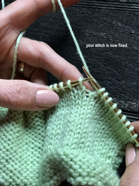 Dropped Knit Stitch 8