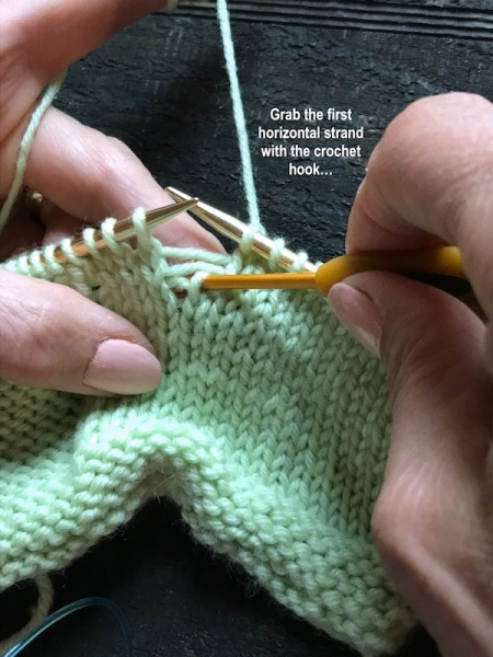 Knitting Picking Up Stitches Neckband : How to Pick Up Dropped Stitches in Your Knitting Italian Dish Knits