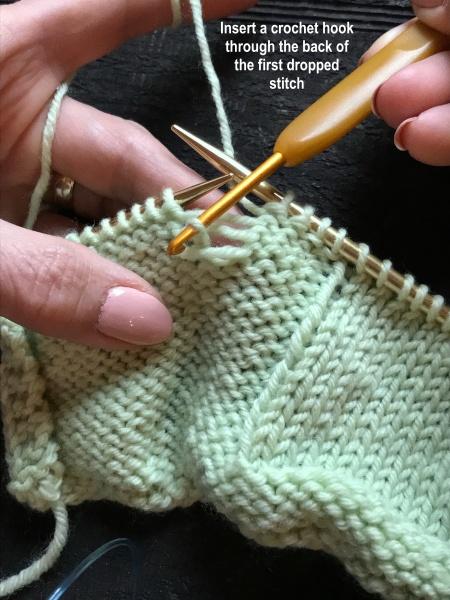 how to fix a hole in garter stitch